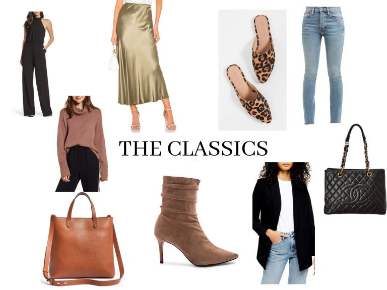 Fashion collage classic style