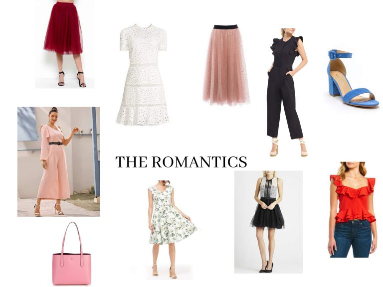 Fashion collage romantic style