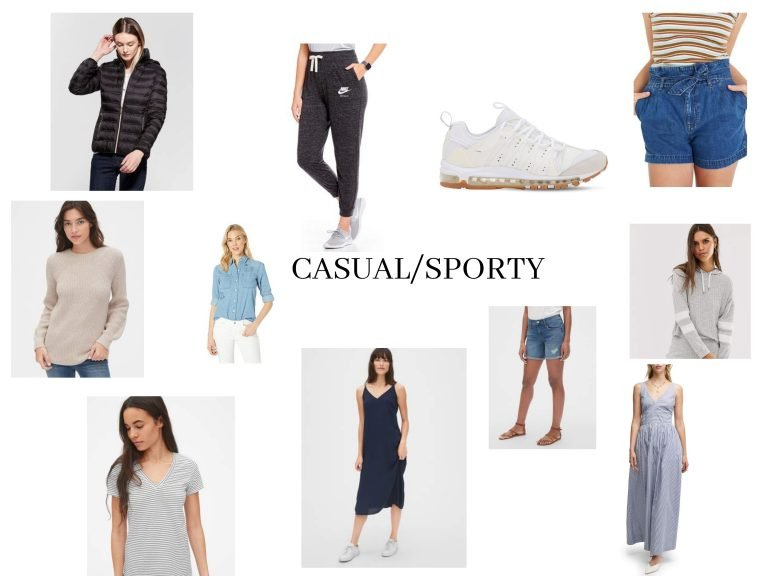 Casual Sporty Fashion Collage