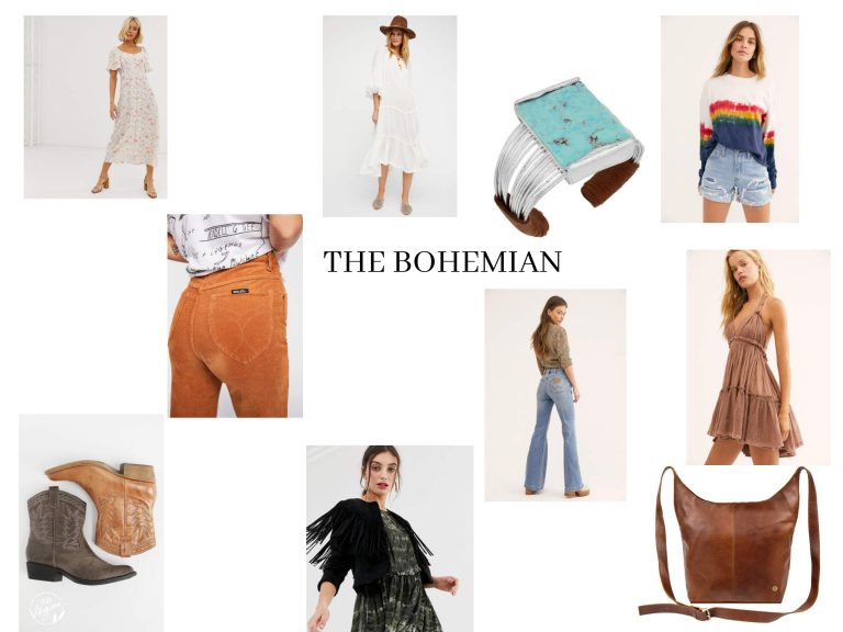 Bohemian Fashion Collage Style