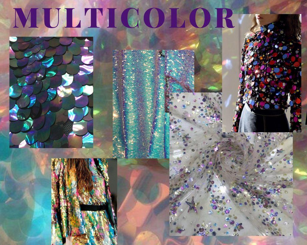 Muti-color fashion collage