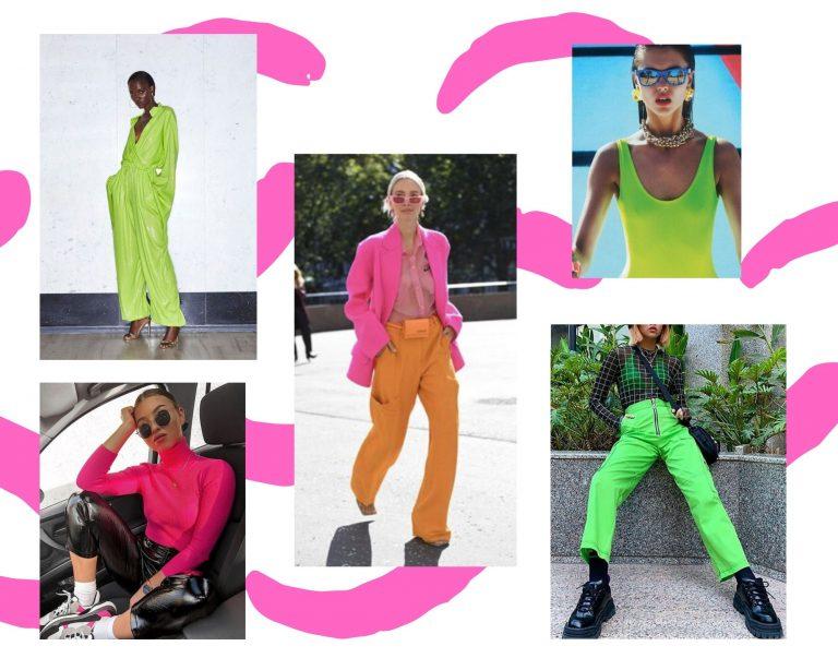 Neon Fashion Collage