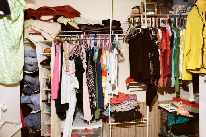 Messy Closet and wardrobe