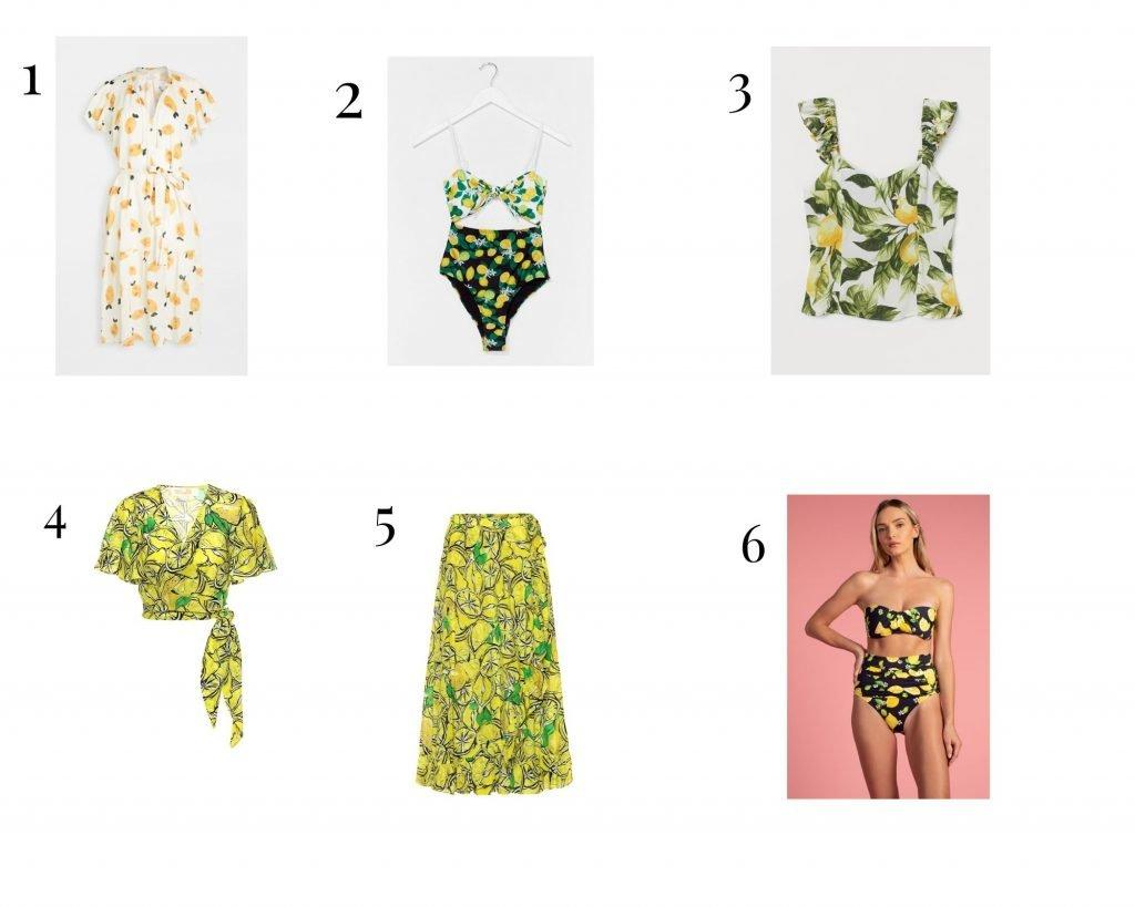 Lemon print fashion