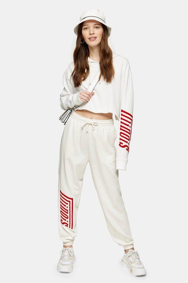 white-illinois-slogan-detail-sweatpants